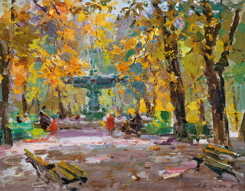 Фонтан в Первомайском парке