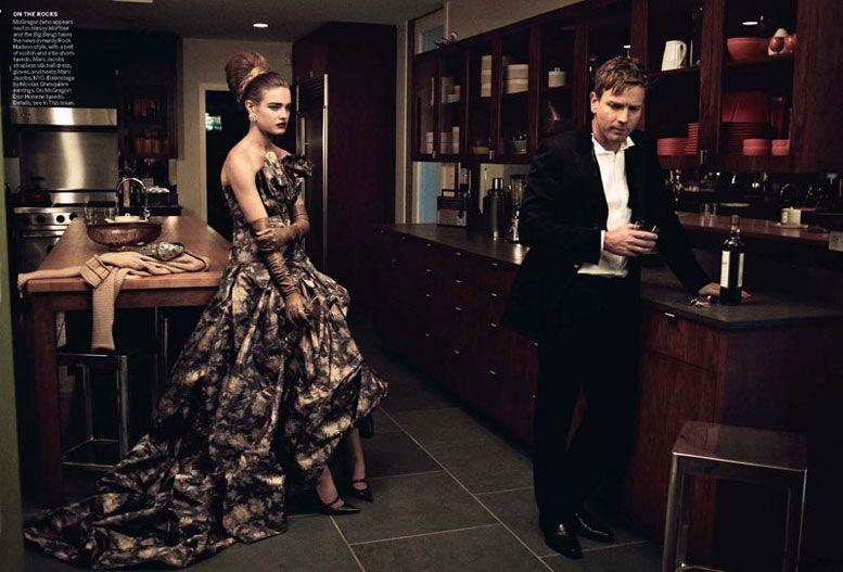 Наталья Водянова и Юэн МакГрегор / Natalia Vodianova and Ewan McGregor by Peter Lindbergh
