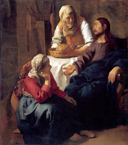 Ян Вермеер ван Дельф. «Христос в доме Марфы и Марии».