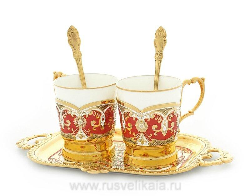 Набор для кофе на 2 персоны. Златоуст (фото 2)