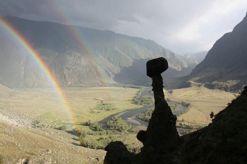 1240. Каменные грибы. долина Чулышмана, Горный Алтай.JPG