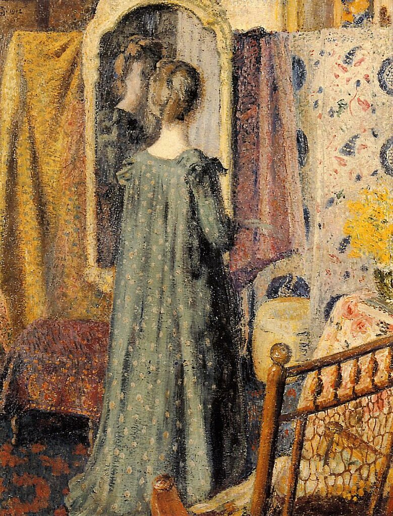 Georges Lemmen - Woman Standing in Front of the Mirror (aka Madame Georges Lemmen), 1902.jpeg