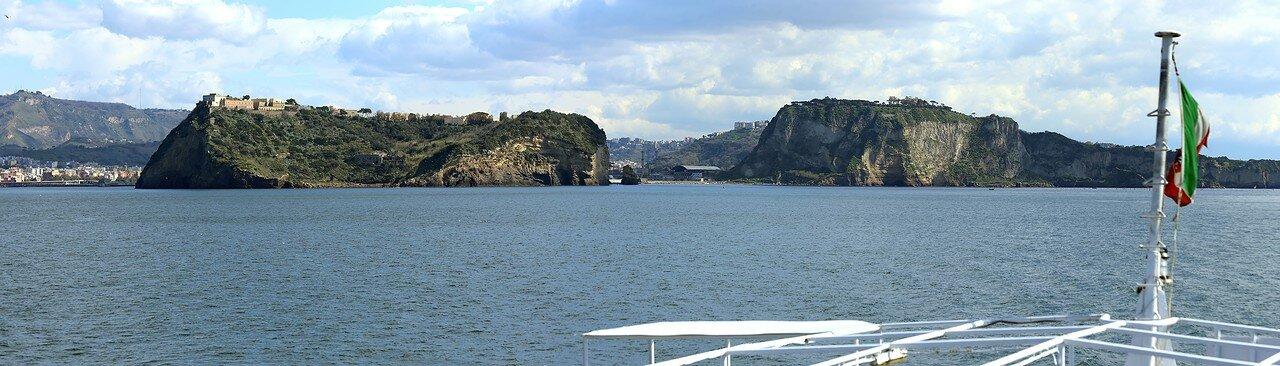 Island Nisida and Cape Posillipo