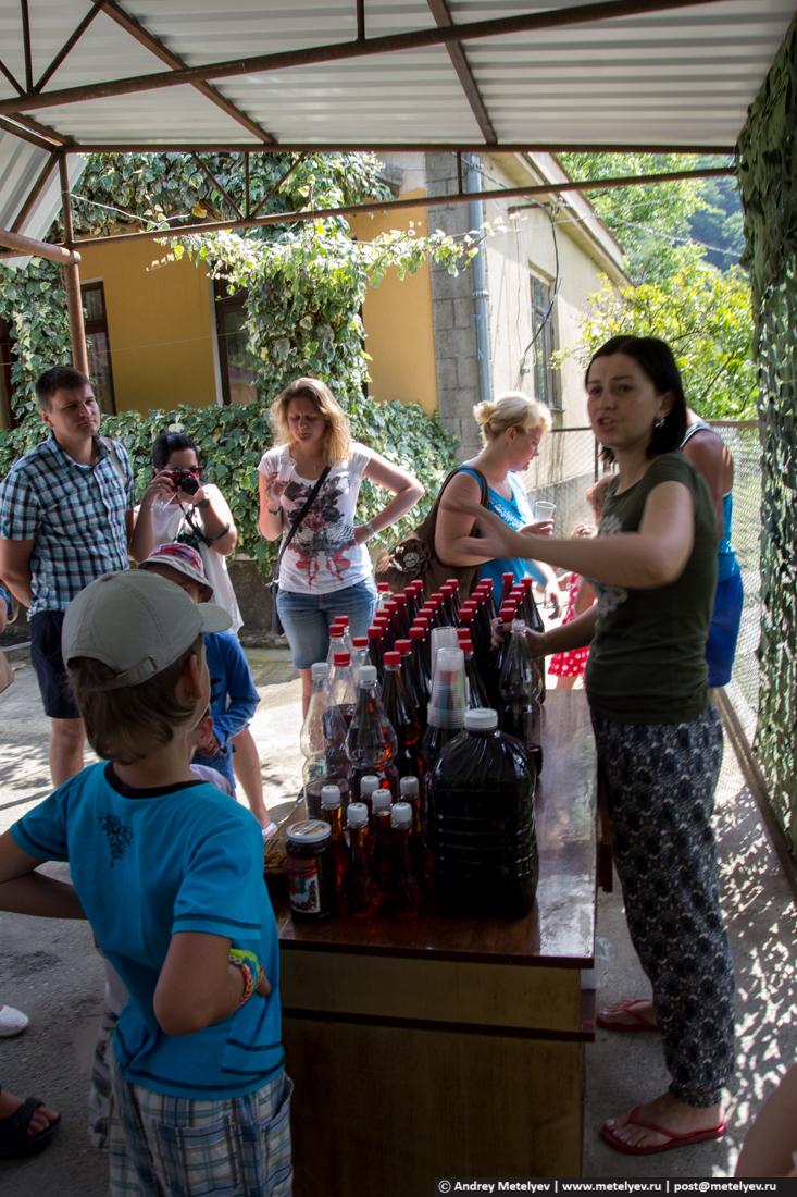 Дегустация вина, коньяка и чачи по пути на Рицу