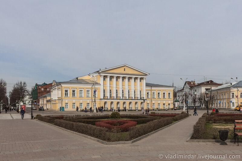 Дом генерала С.С. Борщева. Сусанинская площадь. Кострома. Золотое Кольцо.