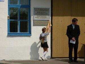 Открытие мемориальной доски на здании Рябчинской школы. 8 мая 2010г