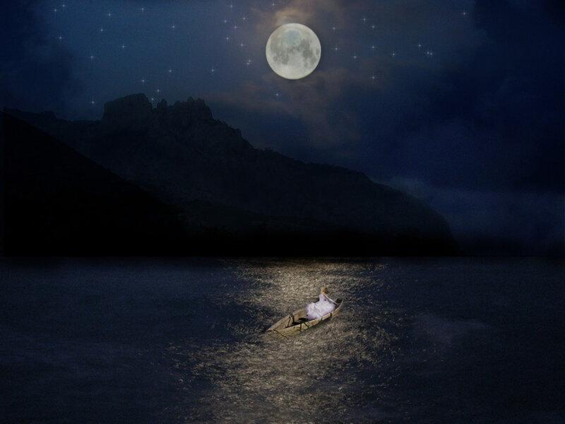 Постер лунная дорожка