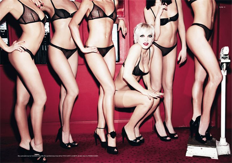 Ali Mahdavi and The Girls of Crazy Horse by Ellen von Unwerth