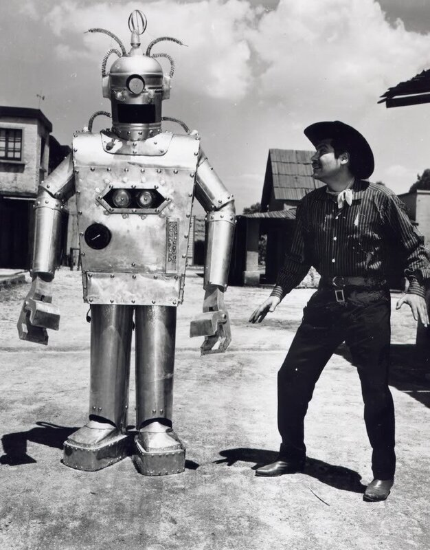 схватка робота и ковбоя