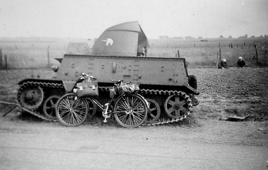 Брошенная бельгийская 47-мм САУ Char leger T13B3.