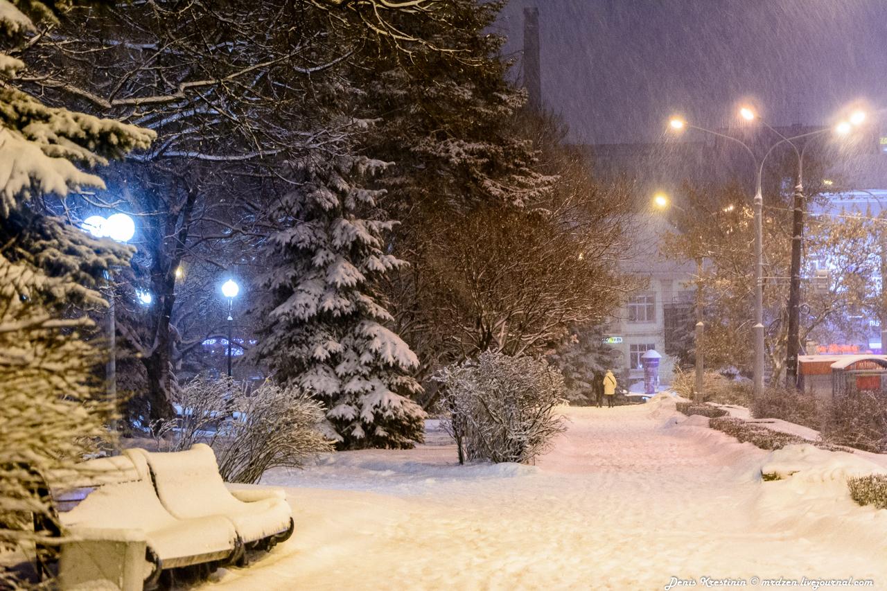 Снежный Минск. улица Городской Вал