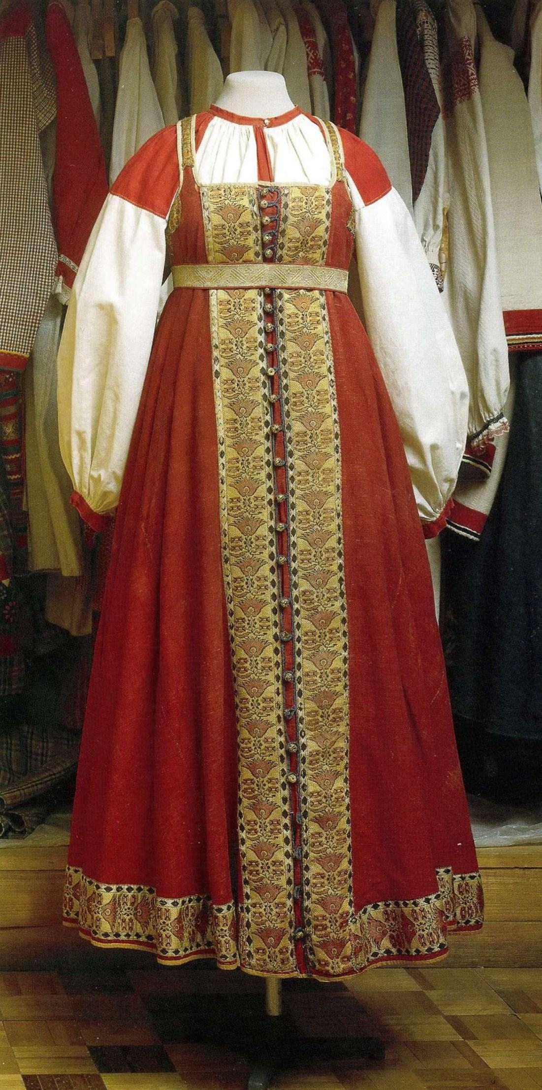 Древнерусская одежда и русский народный костюм XV - начала XX века ... 8beedb90e75