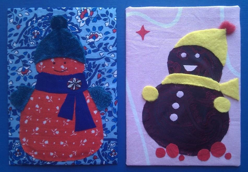 два первых снеговика