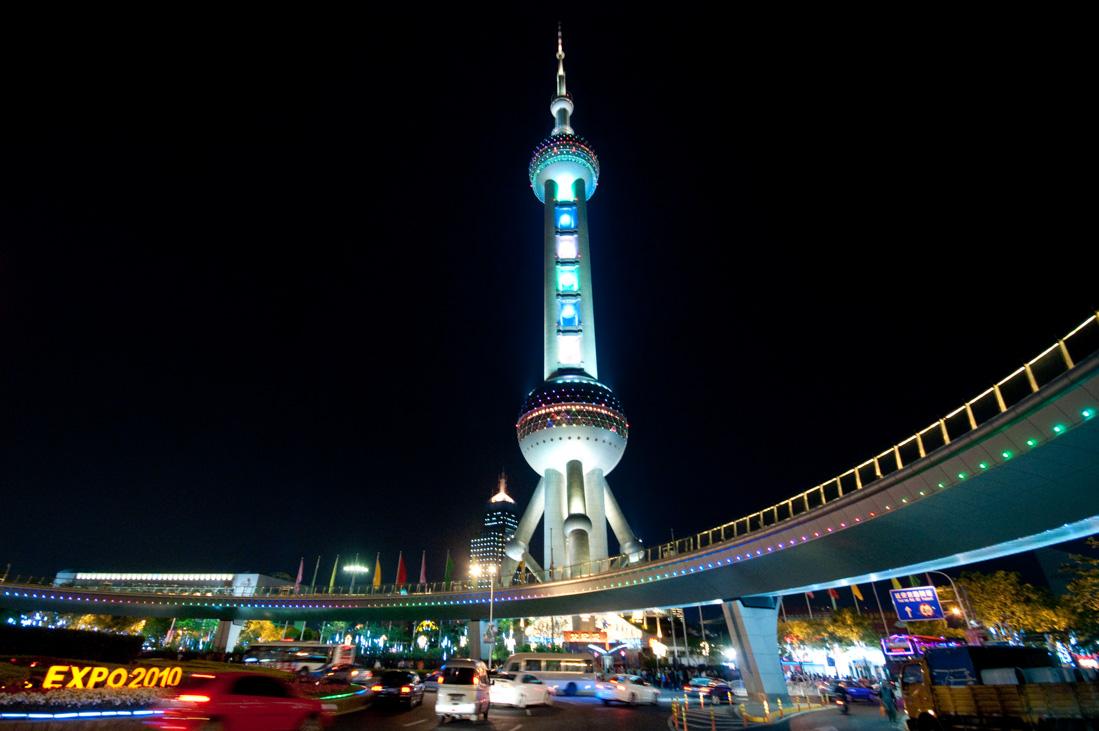«Жемчужина Востока» (Шанхай) — высота башни 468 метров. Одна из главных достопримечательностей Шанха