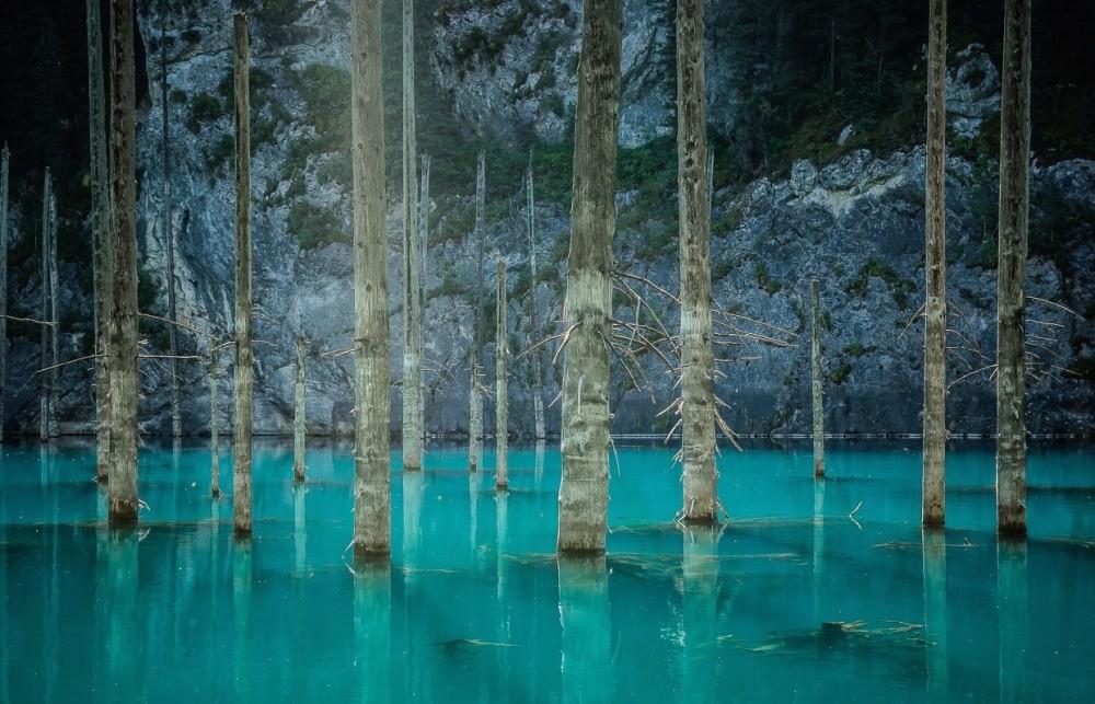 2. Затопленный лес озера Каинды, Казахстан. (© Александр Кузнецов)