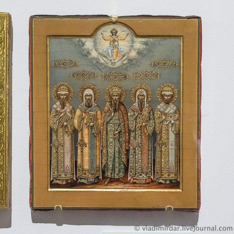 Икона «Святой равноапостольный князь Владимир с московскими митрополитами».