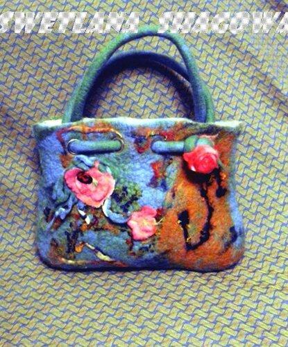 хендмейд сумка из валяной шерсти