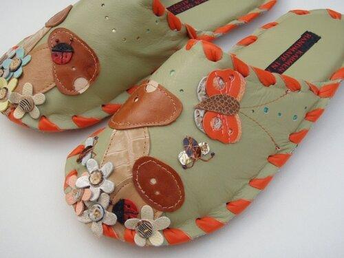 hendmeyd leather slippers