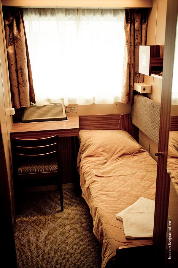 Одноместная каюта №63 на шлюпочной палубе