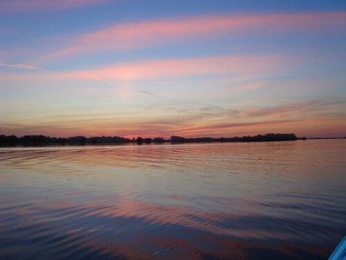 Закат на реке Ахтубе.