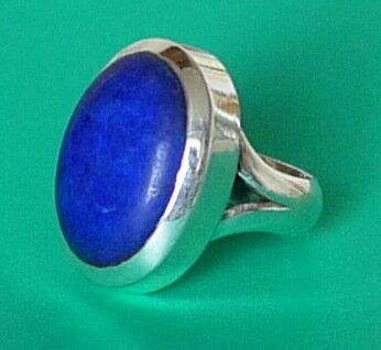 серебряное кольцо слазуритом