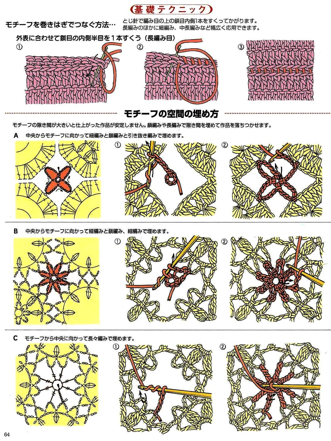Соединение квадратов при вязании крючком