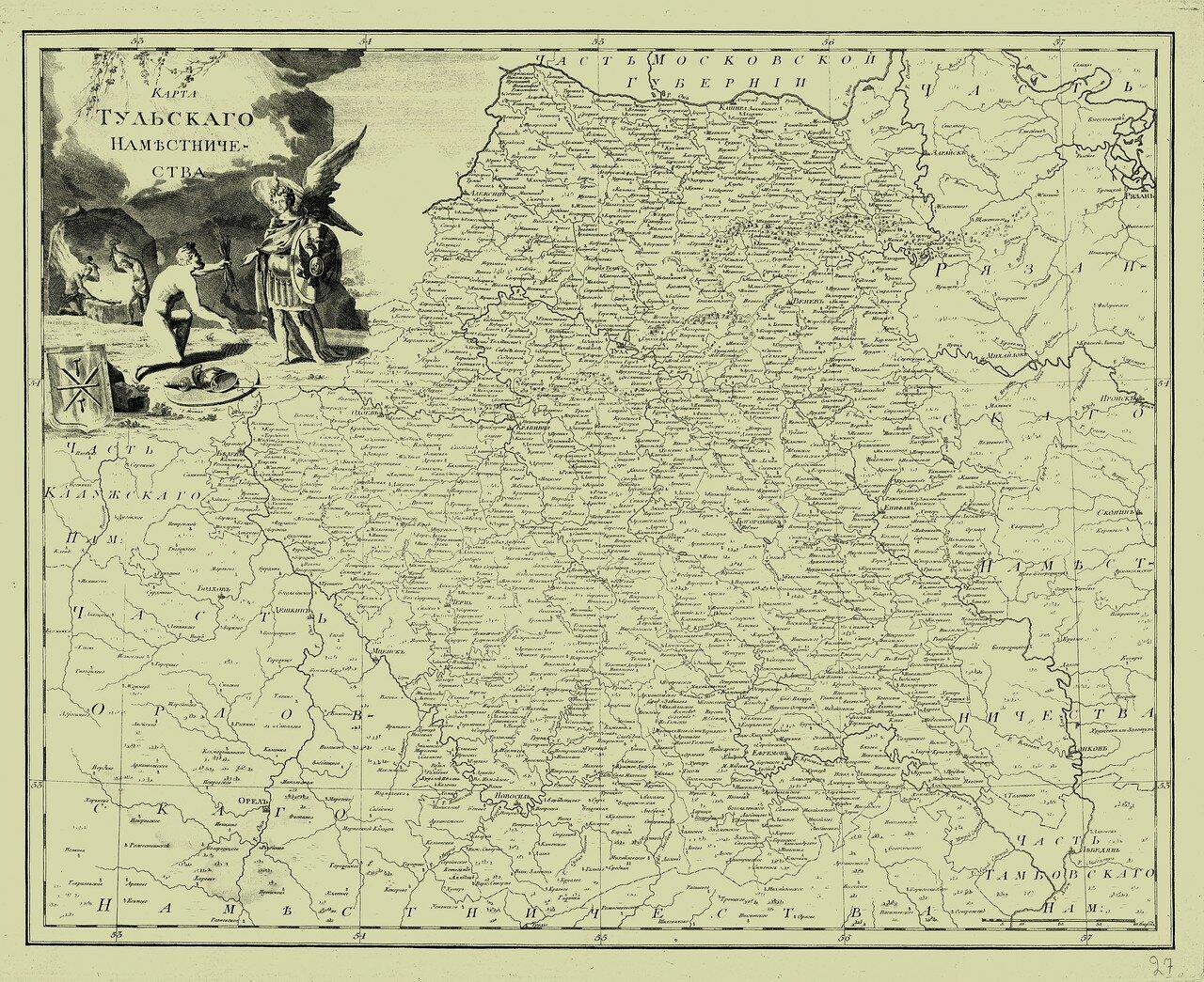 27. Карта Тульского наместничества
