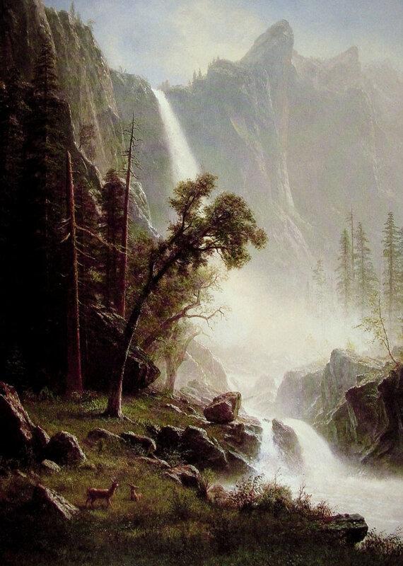 Йосемитский водопад, автора Альберт Бирштадт