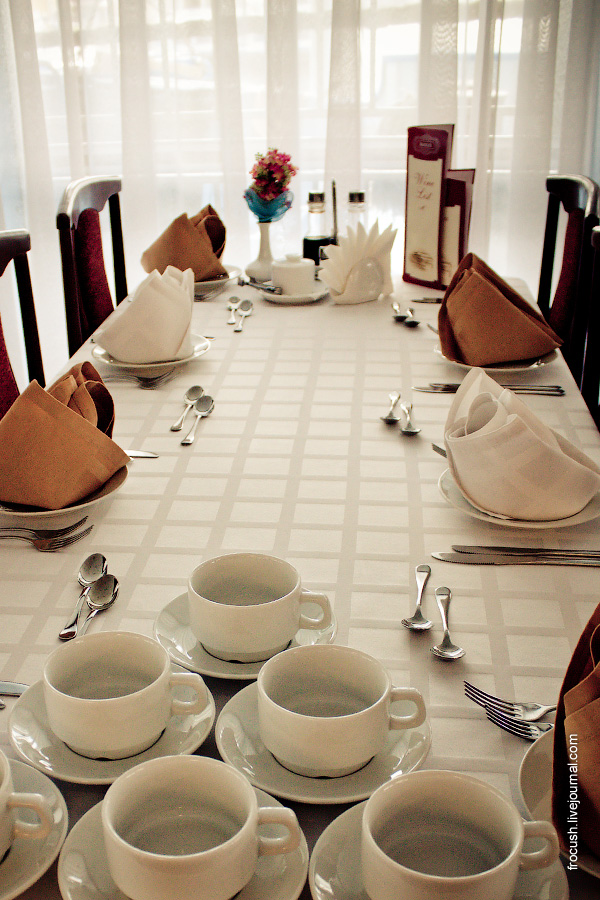 Ресторан «Волга» в кормовой части главной палубы