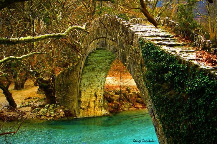 Мост через реку Воидоматис, Греция