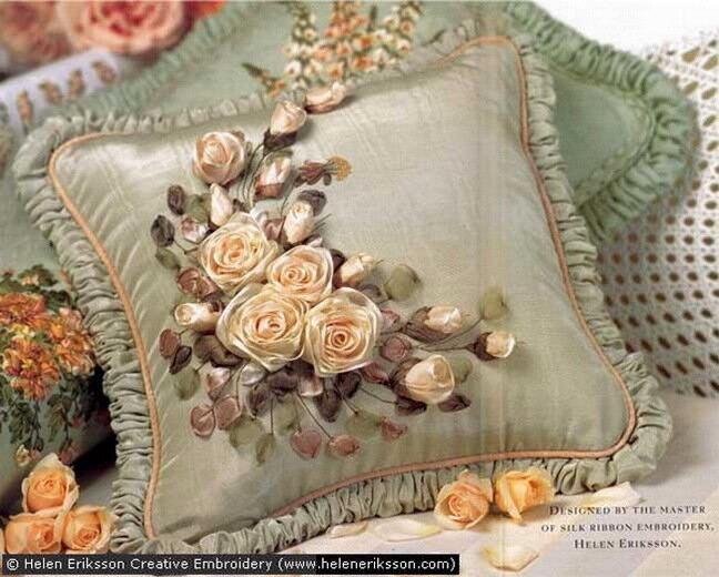 Вышивка лентами - история возникновения ремесла.