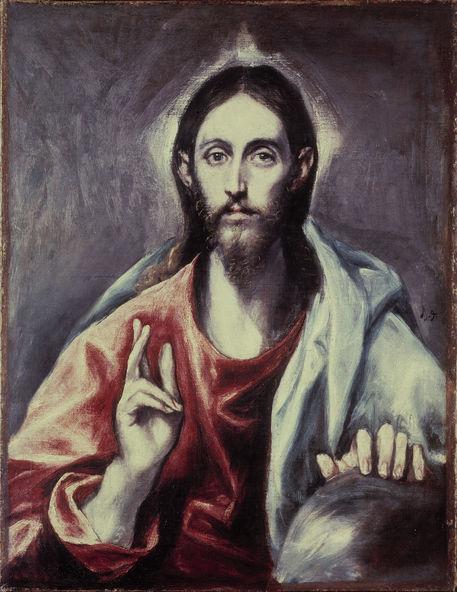 El Greco/ Salvator Mundi/ um 1600 -  - Greco, Domenikos Theotokopoulos, dit Le