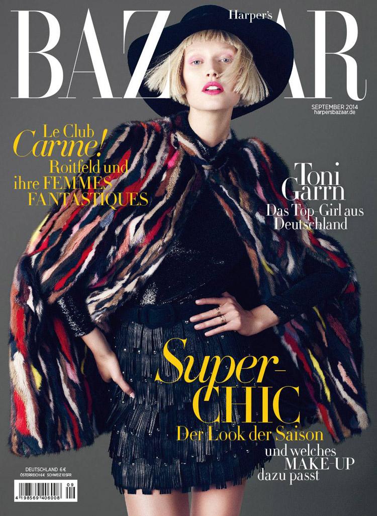 Тони Гаррн в журнале German Harper's Bazaar