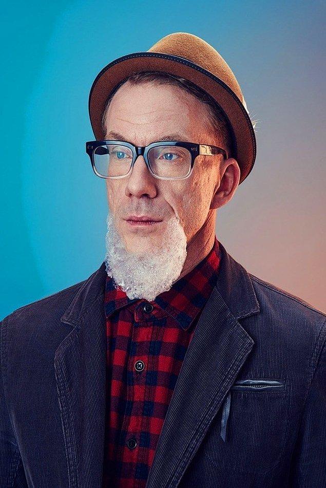 Мужчины с бородами из пены – весело и эксцентрично (11 фото)