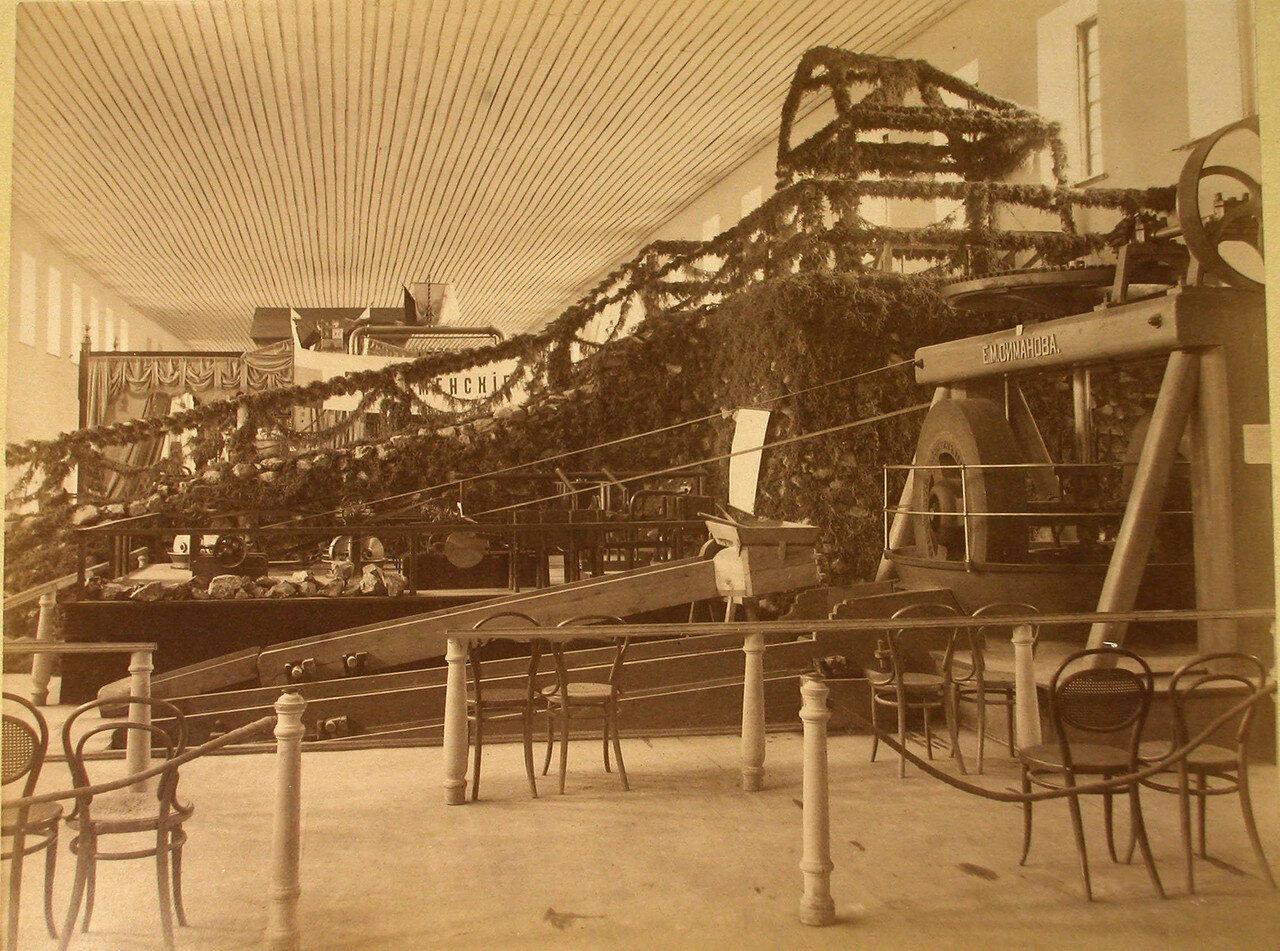 80. Вид моделей золотопромышленных машин Е.М. Симанова в горнозаводском отделе выставки