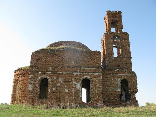 Красный Яр - разрушенный храм в Курганской области