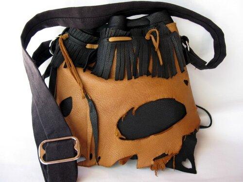 как сшить самой кожаную сумку.
