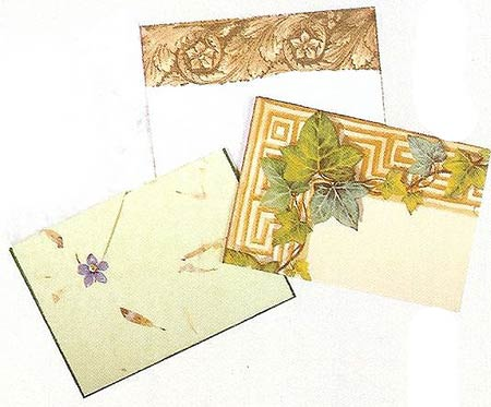 открытки и конверты декупаж