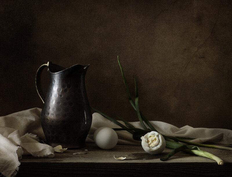 С яйцами и зеленым луком