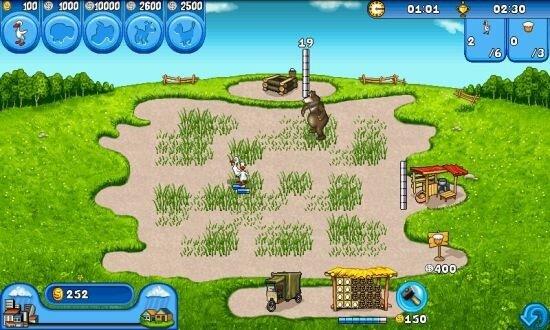 Довольно увлекательная игра Веселая ферма, на которой я заигрался и не углядел, как видео оборвалось (запись ролика обрывается на этой игре)
