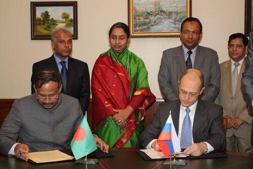 Подписание соглашения с Бангладеш