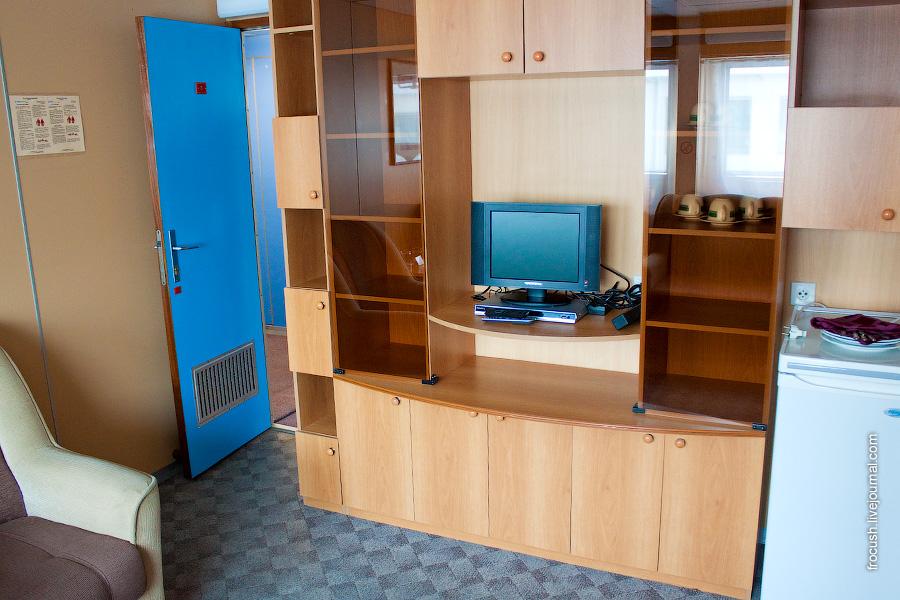 Каюта класса «Полулюкс А» №8 на шлюпочной палубе теплохода «Сергей Кучкин»