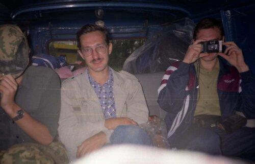 Кирилл, Алексей, Миша. Я и Дрюша спереди сидим.