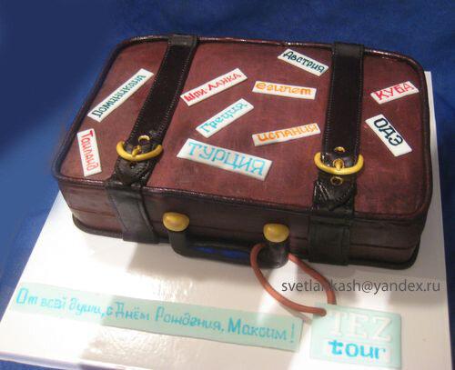 Торт в виде чемодана фото