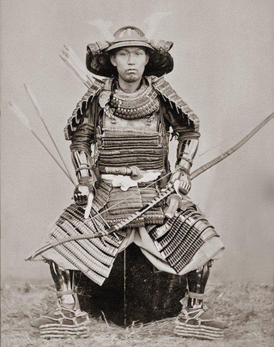 Samurai, NagasakiJapan, c 1890 Photographer Ueno Hikoma.jpg