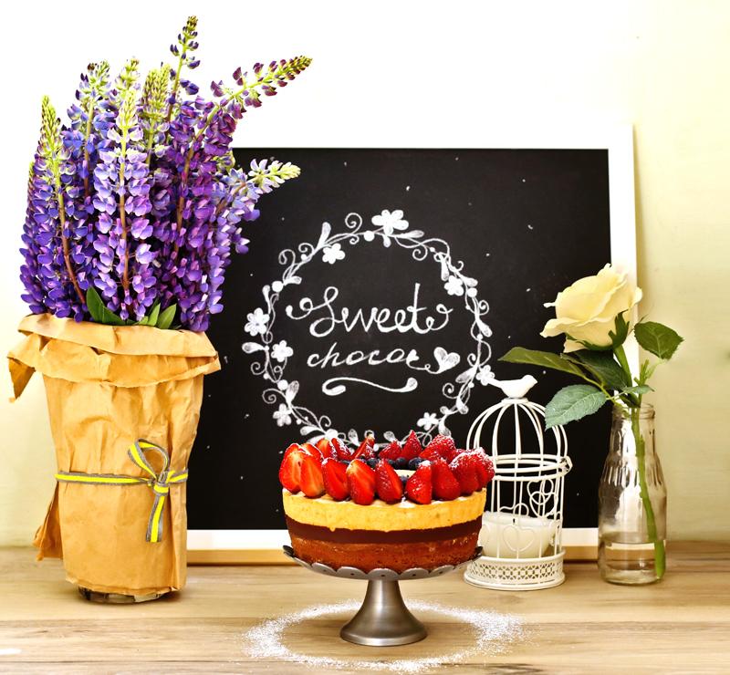Торт Шоколад и Клубника - простой пошаговый рецепт с фото #6.