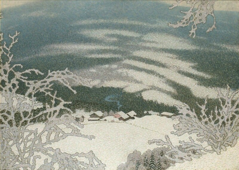 Gustaf Fjaestad. Зимний пейзаж. 1913.jpg