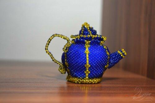 Альбом пользователя Юленька_Лебедь: Чайник из бисера6.JPG