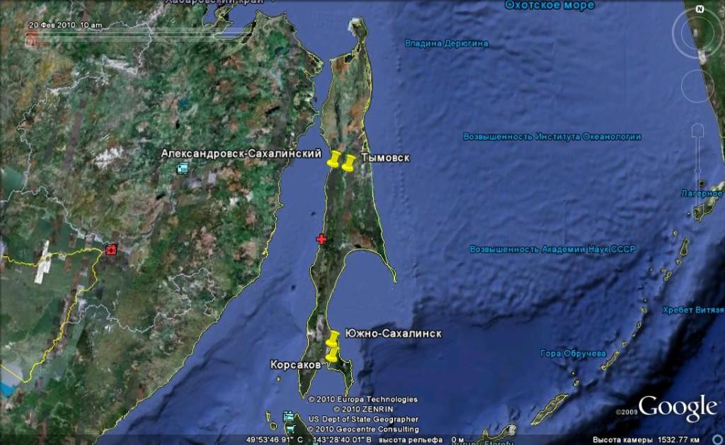 Г.южно-сахалинск где находится