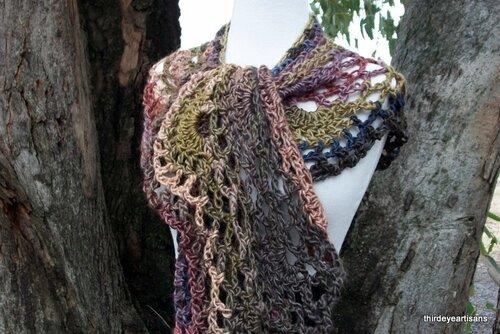 идеи оригинальных шарфов вязание крючком
